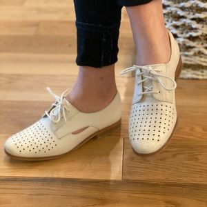 Clarks White Oxfords